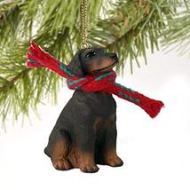 Conversation Concepts Doberman Pinscher Miniature Dog Ornament - Uncropped Ears  - $10.99