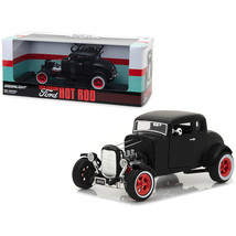 1932 Ford Custom Hot Rod Matt Black 1/18 Diecast Car Model by Greenlight... - $67.00