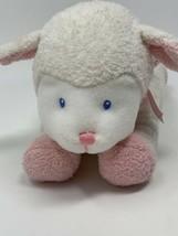 Baby GUND WINKY Lamb RATTLE Pink FURRY Plush Stuffed Animal LOVEY 58131