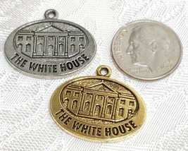 THE WHITE HOUSE FINE PEWTER PENDANT CHARM image 2