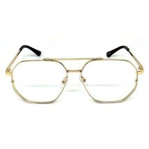 Wholesale VINTAGE RETRO Style Clear Lens SUN GLASSES Large Gold Metal Frame - $47.72