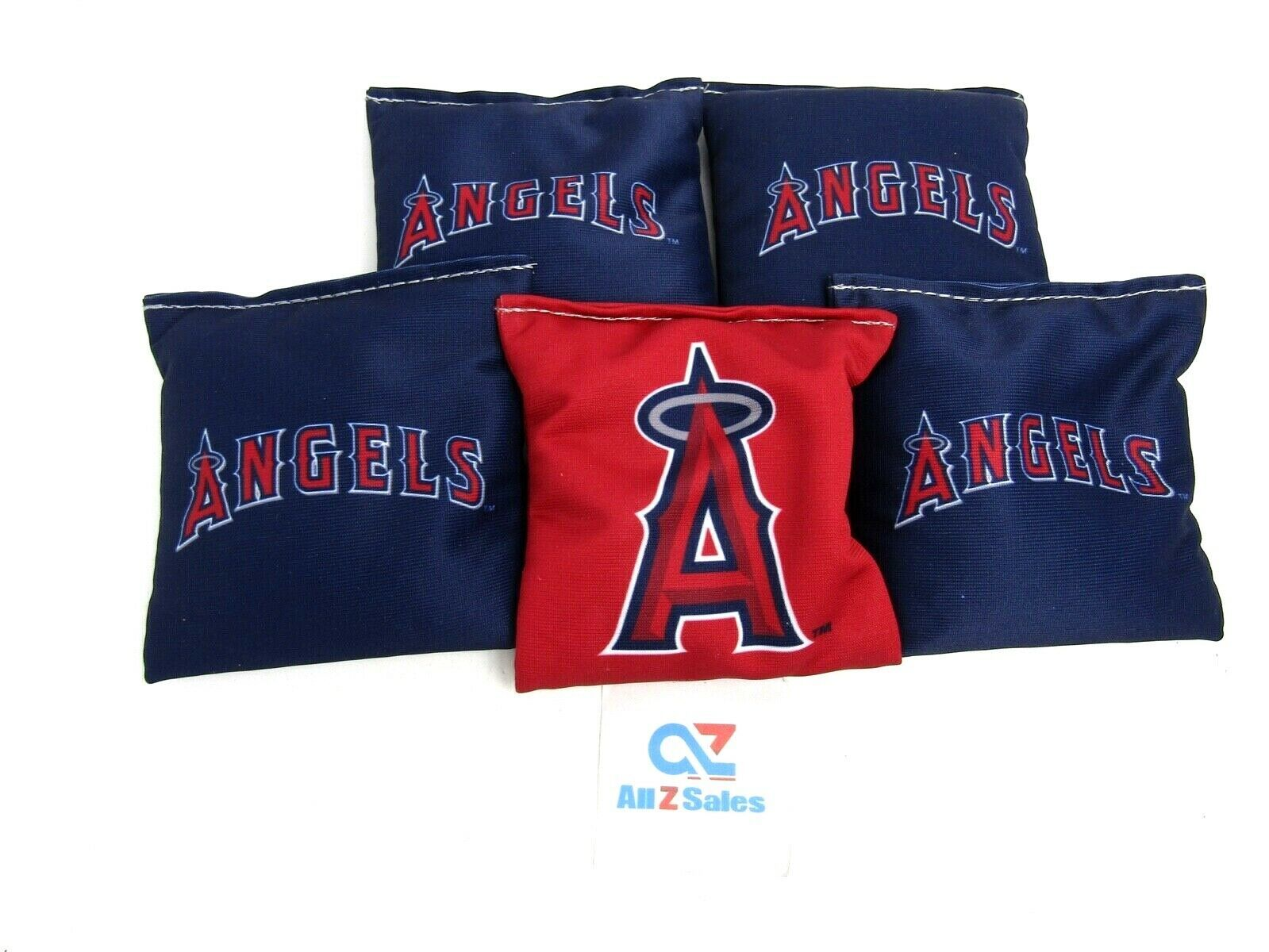 Primary image for Cornhole Bean Bags Set of 5 (only) ACA Regulation Bags Los Angeles Angels