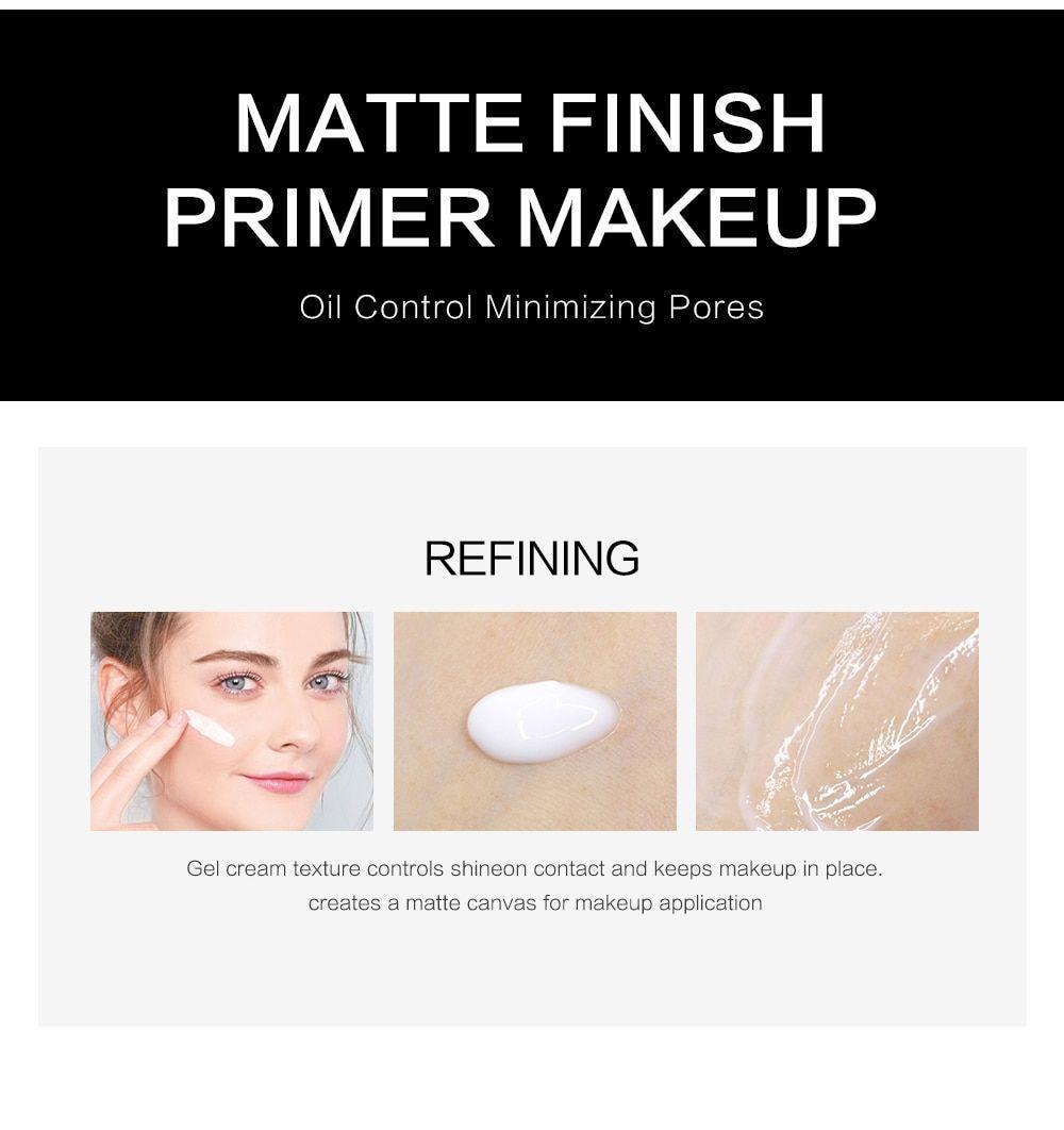 Face Makeup Primer Oil Free Professional Base Make Up Matte Foundation Pores image 4