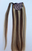 18inches Highlighted 100% Human Hair, Wrap Around Ponytail Hair Extensions # 4/6 - $89.99