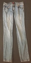 Forever 21 Light Blue Skinny Jeans 27 Whisker Wash Juniors Denim 1 3 5 - $11.87