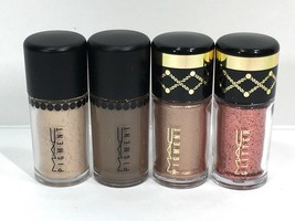 4pc MAC Mini Pigment Eyeshadow Lithe,Deep Brown,Star Dream,Reigning Riches - $24.98