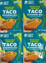 Lot of 4 Taco Bell Reduced Sodium Taco Seasoning Mix 1 oz Each A3 - $14.80