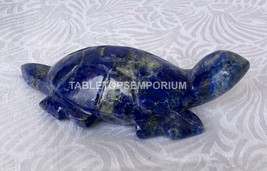 "4"" Lapis Turtle Hand Curved Collectible Good Luck Gift Her Wedding Home ... - £77.94 GBP"