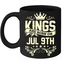 Kings Are Born On July 9th Birthday 11oz Coffee Mug Gift - $15.95
