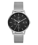 A|X Armani Exchange Men's Cayde Stainless Steel Mesh Bracelet Watch 42mm - $159.95