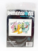 """Dimensions """"Rockin' Dinos"""" Counted Cross Stitch Kit #6622 1992 NOS Dinosaurs - $19.99"""