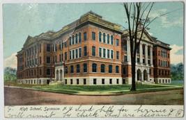 Old Undivided Back Postcard High School, Syracuse, NY Used 1906 - $19.55