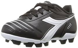 best cheap 760d6 8197d Diadora Kids  39  Cattura MD Jr Soccer Shoe, Black White, 9