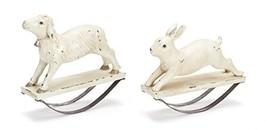 Lamb and Bunny Rabbit Rocking Figures