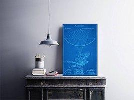 "RJ Spaulding Flying Machine Patent - Blueprint Style - Art Print - 18"" tall x 12 - $16.00"