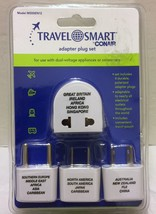 NIP Travel Smart by Conair Adapter Plug Set 4 Polarized Europe Backpack ... - $21.03