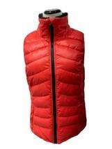 Calvin Klein women's puffer knit vest MP3 player pocket orange black siz... - $19.69
