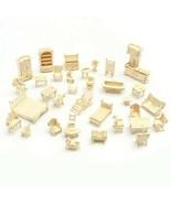 34 Pcs/Set 3D Mini Wooden Puzzle Miniature Puzzle Dollhouse Furniture Mo... - $59.39