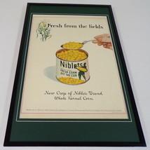 1937 Niblets Corn Framed 11x17 ORIGINAL Vintage Advertising Poster - $65.09