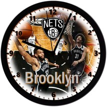 "Brooklyn Nets Homemade 8"" NBA Wall Clock w/ Battery Included - $23.97"
