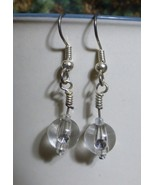 Clear (Clear) Sparkle Ball Dangle Earrings - $15.00