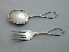 Antique Weidlich Sterling Silver Baby Child's Sterling Fork & Spoon - $49.99