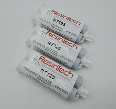 3 pack ResinTech RT125-DS-050 Flexible 2 Part Epoxy 50ML Black Motorspor... - $93.99