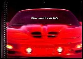 1999 Pontiac Firebird Prestige Spiral Bound Brochure TransAm, Original 99 - $17.09