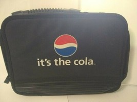 Vintage 1998 Black Pepsi Cola Vinyl 6 Pack Picnic Cooler Soda Lunch Box ... - $24.75
