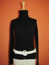 Banana Republic Womens Size S White Braided Leather Belt - £18.87 GBP
