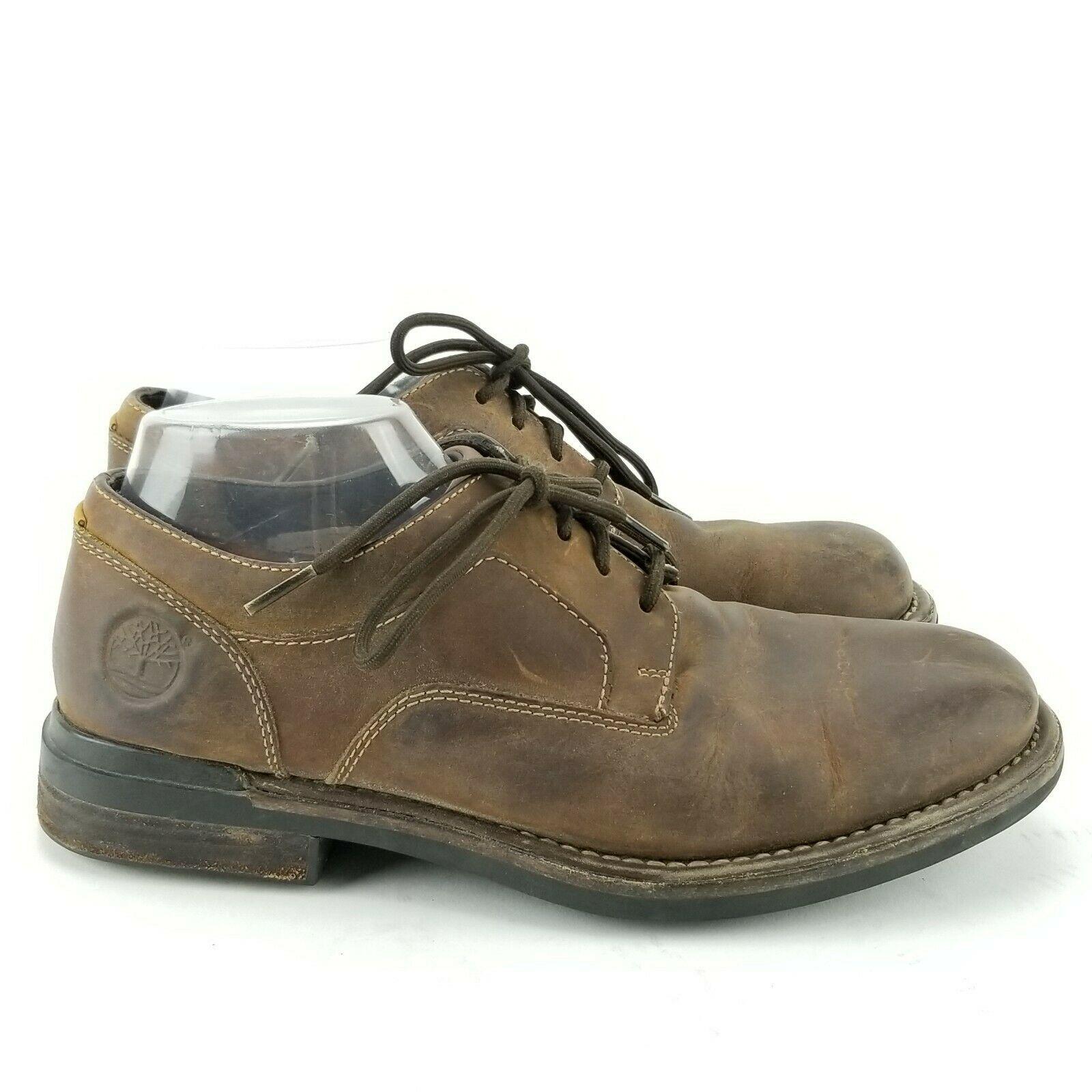 TIMBERLAND Torrance Waterproof Brown Sz 8 M Men Plain-Toe Oxfords