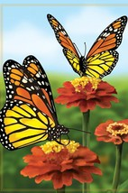 """Elegant Monarch Butterfies House Size (28"""" x 40"""" Approx) Flag PR 52815 - $15.99"""