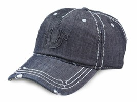 True Religion Men's Vintage Distressed Cotton Horseshoe Trucker Hat Cap TR2095 image 2