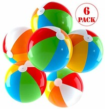 Inflatable Beach Balls Jumbo 24 inch for The Pool, Beach, Summer Parties... - $22.05