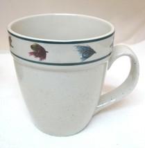 FolkCraft Stoneware Rainbow Trout Scotty Z Fishing Mug w Flies Fly's Ext... - $29.69