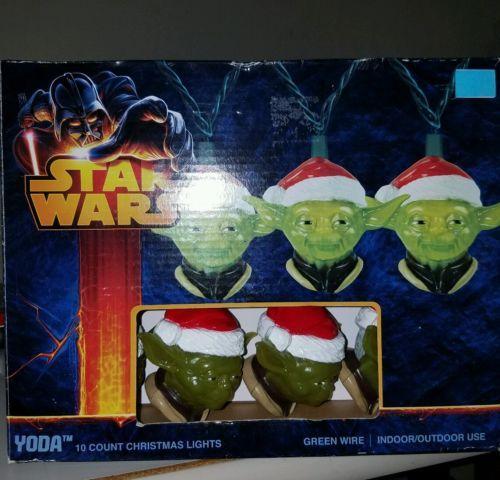 Star Wars Yoda Head 10 count Christmas Lights Indoor/Outdoor W/Box
