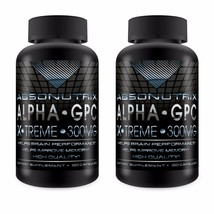 2 Bottiglie Absonutrix Alfa Gpc Xtreme 300mg Nootropic Brain Memoria 60 ... - $31.26