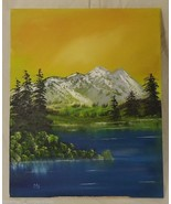 Oil on Canvas 20in x 16in Painting Artist Michael Blanchard Mountain Lan... - $48.93