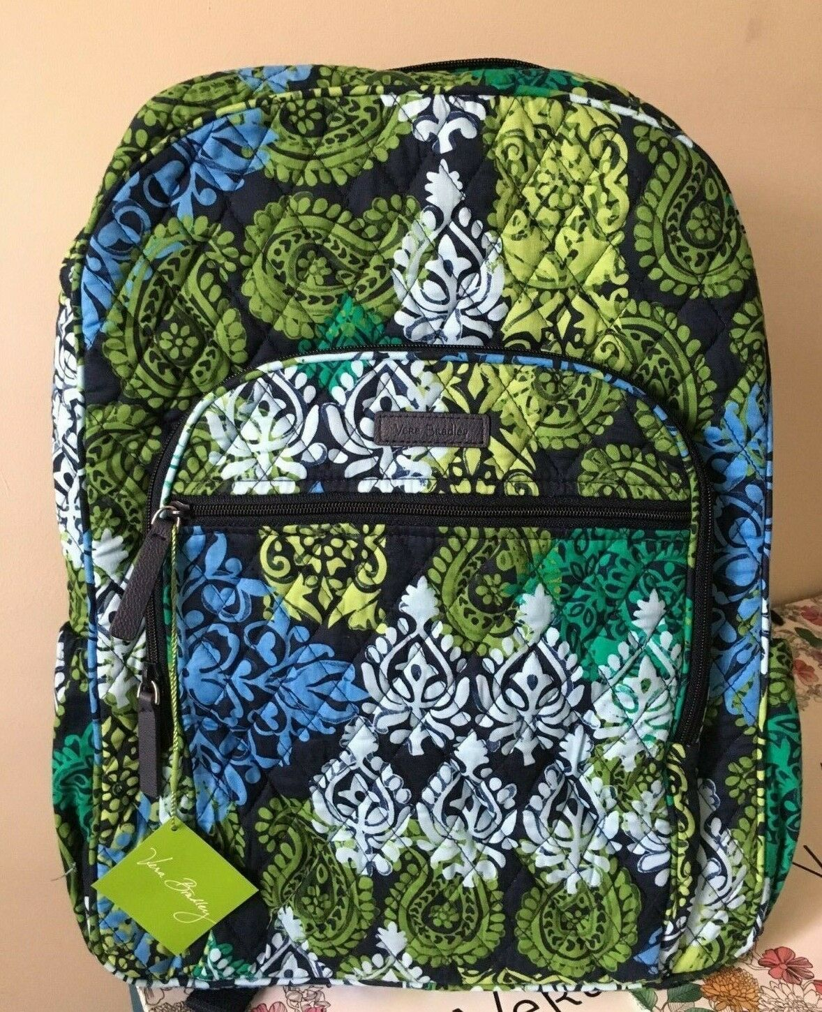 f1268eff24ed 57. 57. Previous. NWT VERA BRADLEY CAMPUS BACKPACK SCHOOL COLLEGE BOOK BAG   109 in CARIBBEAN SEA