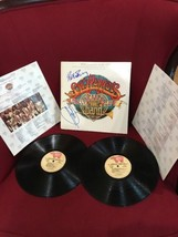 Frampton B. Gibbs The Bee Gees sgt. Peppers Lonely Hearts Club 2x Autogr... - $245.00