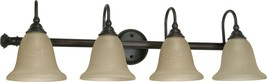 "Mericana Old Bronze Amber Glass Wall Light 32""Wx9""H - $139.99"