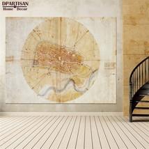 "Leonardo Da Vinci ""A plan of Imola"" HD print on canvas large wall pictur... - $29.69"