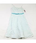 NEW I.N. San Francisco Dress Size 5 Multi-Color White Blue Polka Dot MSR... - $11.68