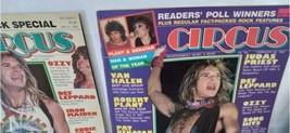 Vtg Heavy Metal Magazine Lot 8 Circus Creem 1982 1983 Van Halen Led Zeppelin image 2