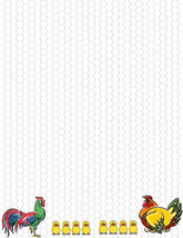NEW Chickens & Chicks  Letterhead Printable Stationery Paper 26 Sheets - $9.49