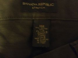 Men's Banana Republic Stretch Green Pants Sz 36R image 6