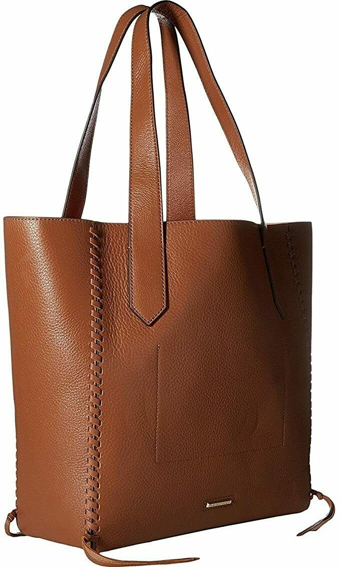 Primary image for Rebecca Minkoff Medium Panama Tote (Brown with Neon Orange Interior)
