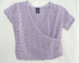 babyGAP beautiful lavender Sweater Fold Over Short Sleeve Toddler 2 year... - $5.93