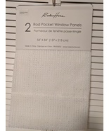 "Rodeo Home Adeena Fringe Semi-Sheer Ivory Rod Pocket Panels Pair 84"" - $42.00"