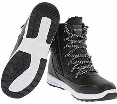 Nuovo Weatherproof da Donna Nero Idrorepellente Alexa Inverno Sneaker Caviglia
